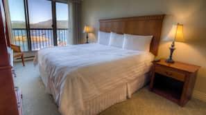 1 bedroom, hypo-allergenic bedding, down comforters, in-room safe