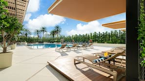 Outdoor pool, open 7:00 AM to 10:00 PM, free pool cabanas, pool loungers
