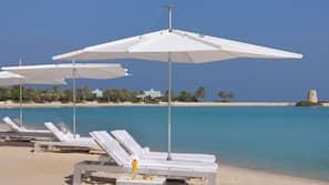 전용 해변, 백사장, 무료 비치 카바나, 일광욕 의자