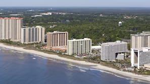 On the beach, free beach shuttle