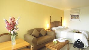 Down duvets, pillow-top beds, minibar, in-room safe