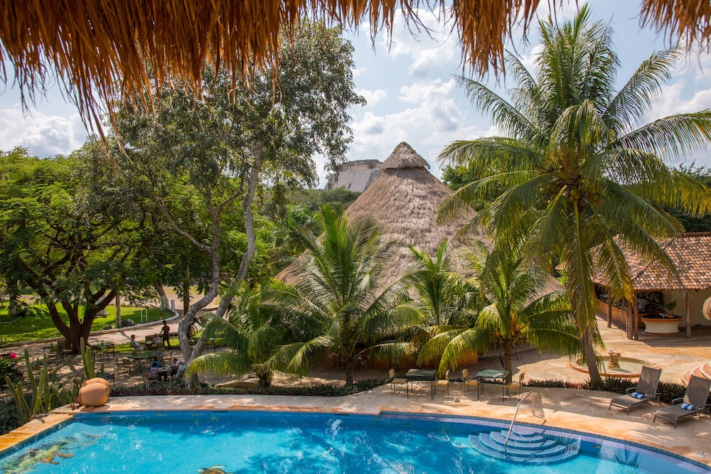 Balcony View, The Lodge At Uxmal