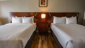 Pillow top beds, desk, laptop workspace, blackout curtains