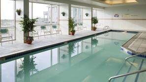 Indoor pool, outdoor pool, open 7:30 AM to 10 PM, sun loungers