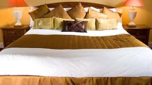 Individually furnished, desk, blackout drapes, iron/ironing board