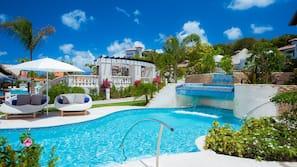 5 outdoor pools, cabanas (surcharge), pool umbrellas