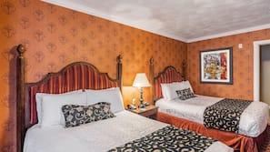 Premium bedding, iron/ironing board, alarm clocks