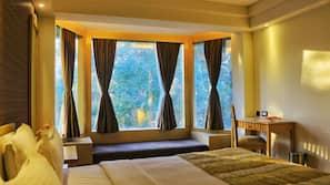 埃及棉床單、高級寢具、記憶棉床墊、備有一些免費物品的迷你吧