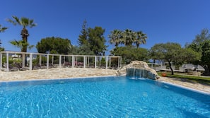 2 outdoor pools, open 9 AM to 6:00 PM, pool umbrellas, sun loungers
