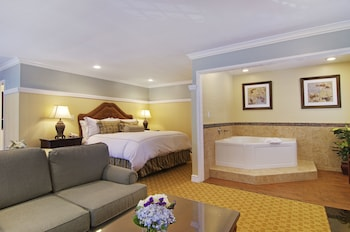 Premium Suite, 1 King Bed, Fireplace - Guestroom