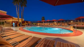 Outdoor pool, cabanas (surcharge), pool umbrellas