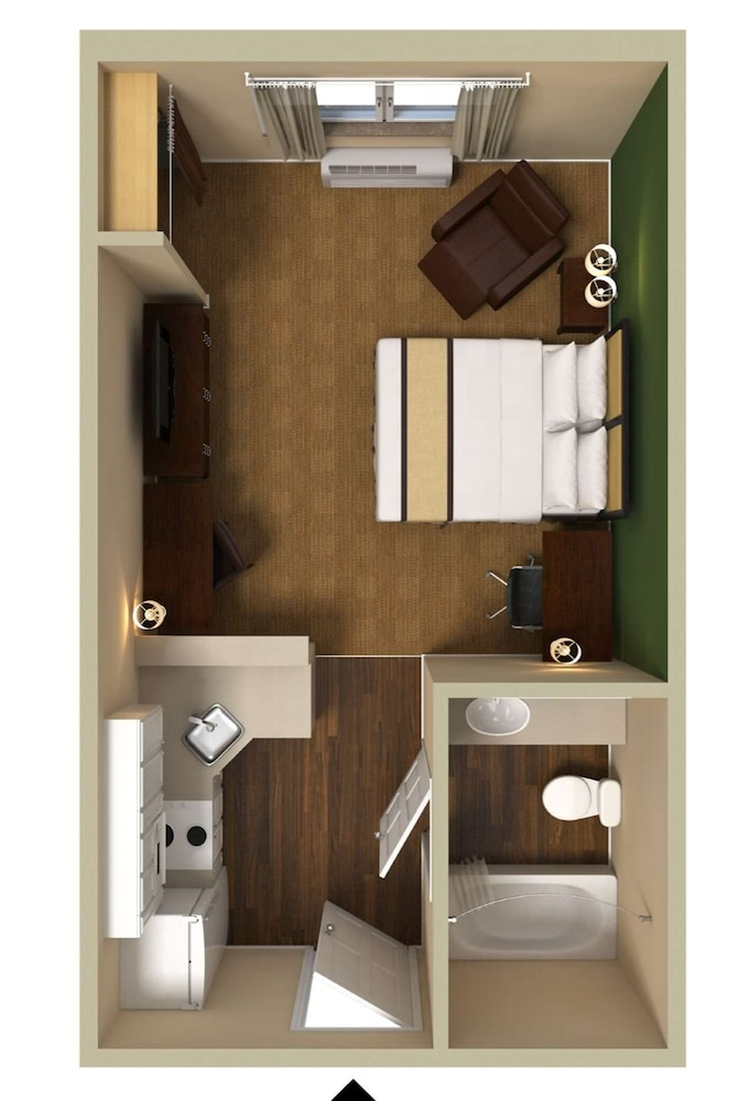 Floor plan, Extended Stay America Chicago - Midway