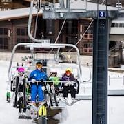 Prática de esqui