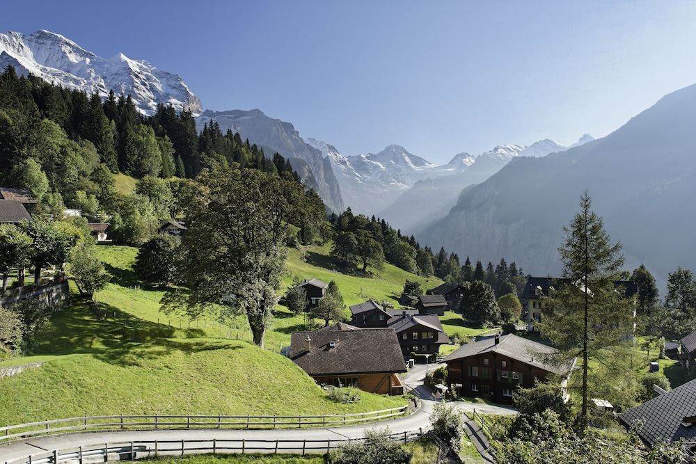 Aerial View, Hotel Alpenrose Wengen