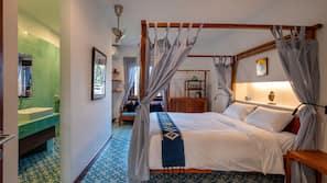 1 ห้องนอน, เครื่องนอนระดับพรีเมียม, เตียงพร้อมฟูกเสริมที่นอน, มินิบาร์