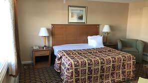1 quarto, roupas de cama premium, edredons de pluma, cortinas blackout