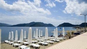 Private beach nearby, sun-loungers, beach umbrellas, beach towels
