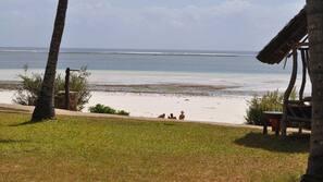 Plage privée, parasols, massages sur la plage, plongée sous-marine