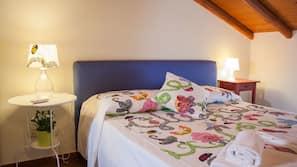 Frette Italian sheets, down comforters, desk, laptop workspace