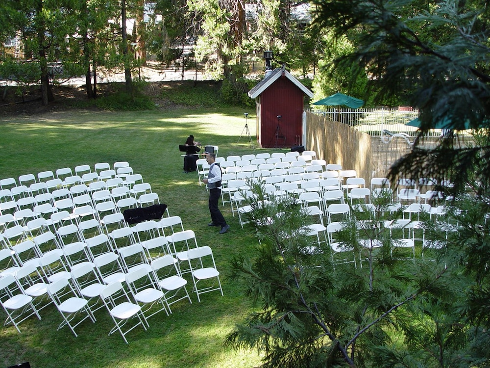 Outdoor Wedding Area, Long Barn Lodge
