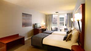 Een kluis op de kamer, gratis wifi, beddengoed