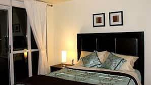 1 bedroom, premium bedding, memory foam beds, free minibar