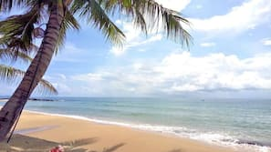 私人海灘、躺椅、太陽傘、浮潛