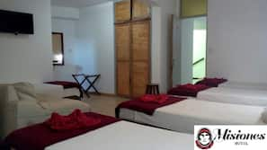 Premium bedding, pillowtop beds, blackout drapes, rollaway beds