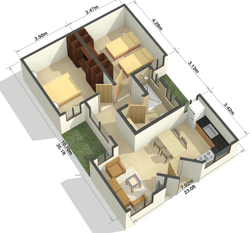 Floor plan, Hotel Suites Cristina