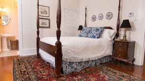 Premium bedding, down comforters, individually decorated