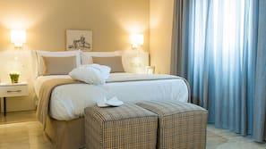 Allergivenligt sengetøj, skrivebord, mørklægningsgardiner, gratis Wi-Fi