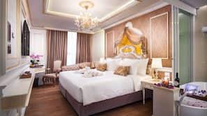 埃及棉床單、高級寢具、保險箱、書桌