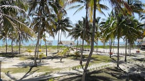 On the beach, white sand, snorkeling, beach volleyball