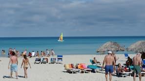 Plage, sable blanc, plongée sous-marine, beach-volley