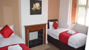 4 bedrooms, free cribs/infant beds, rollaway beds, free WiFi