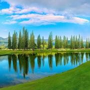 Utsikt mot golfbane