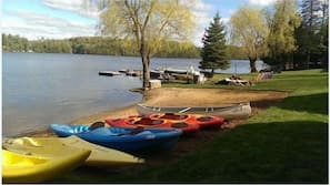 Private beach nearby, water skiing, kayaking, rowing