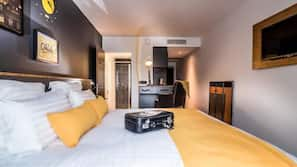 In-room safe, laptop workspace, soundproofing, iron/ironing board