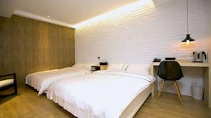 ตู้นิรภัยในห้องพัก, เตารีด/โต๊ะรีดผ้า, Wi-Fi ฟรี, ผ้าปูที่นอน