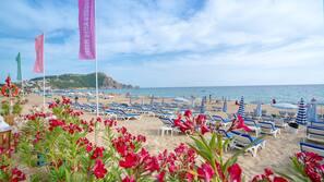 Private beach nearby, free beach shuttle, beach cabanas, sun loungers