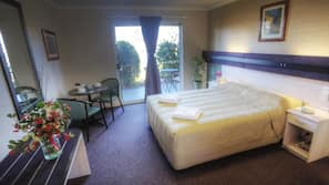 Blackout curtains, iron/ironing board, rollaway beds, free WiFi