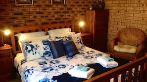 2 bedrooms, premium bedding, iron/ironing board
