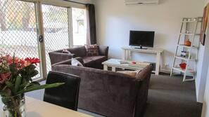 LED TV, DVD player