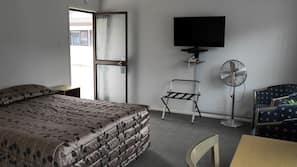 Blackout curtains, iron/ironing board, free WiFi, bed sheets