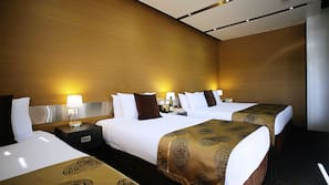 Premium bedding, in-room safe, individually furnished, laptop workspace
