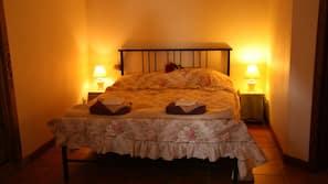 Egyptian cotton sheets, down duvet, pillow top beds