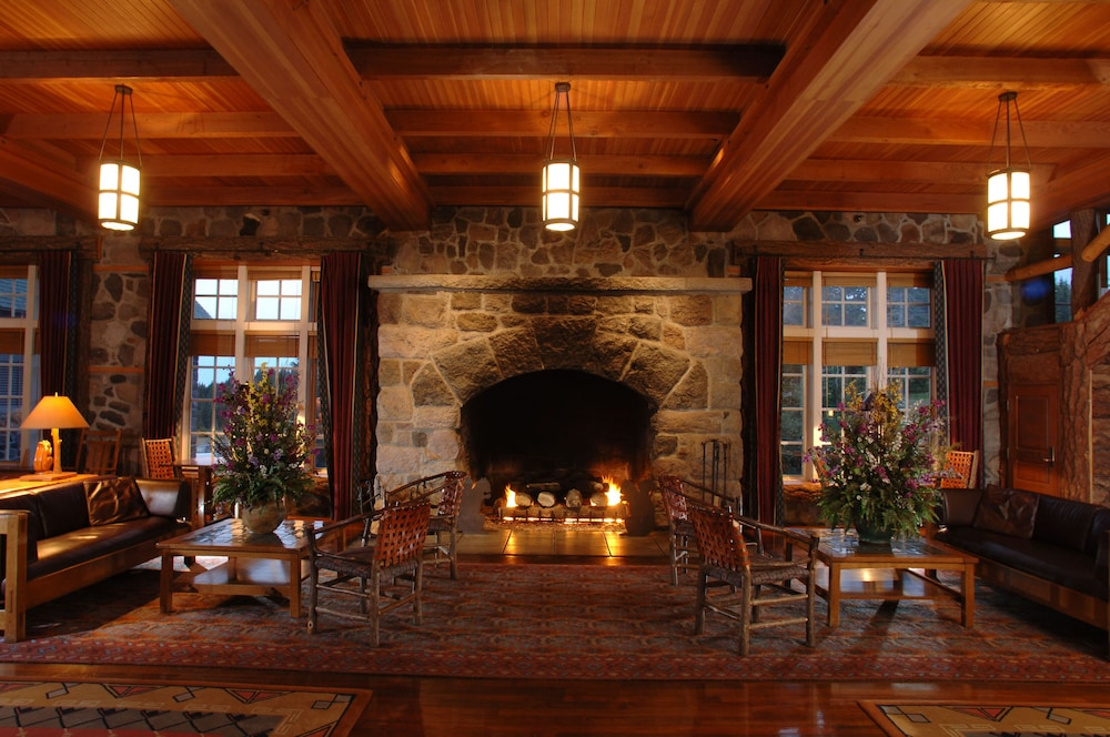 Fireplace, Crater Lake Lodge - Inside the Park