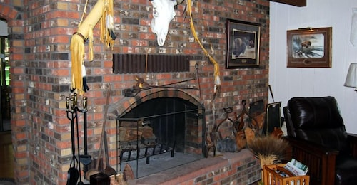 Fireplace, Lonesome Dove Guest Ranch