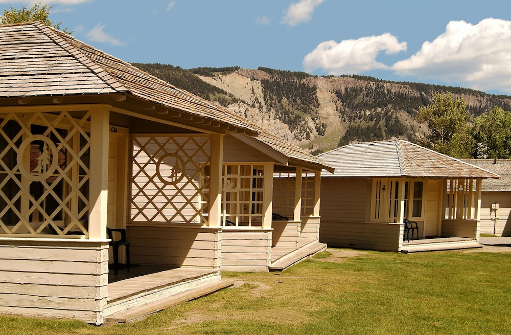 Mammoth Hot Springs & Cabins - Inside the Park (Yellowstone National