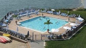 Indoor pool, seasonal outdoor pool, cabanas (surcharge), sun loungers